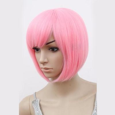 Парик боб розовый