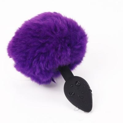 Хвост Заяц фиолетовый