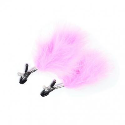 Зажимы на соски перо розовый