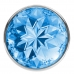 Анальная металлическая пробка с голубым кристаллом М