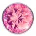 Анальная металлическая пробка с розовым кристаллом S