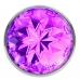 Анальная металлическая пробка с фиолетовым кристаллом S