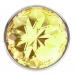 Анальная металлическая пробка с желтым кристаллом S