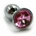 Металлическая пробка с светло-розовым кристаллом
