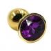 Золотая пробка с темно-фиолетовым кристаллом