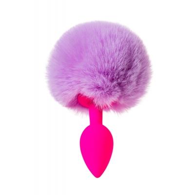 Анальная втулка с хвостом розово-фиолетовый ToDo Sweet bunny