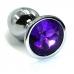 Металлическая пробка с темно-фиолетовым кристаллом