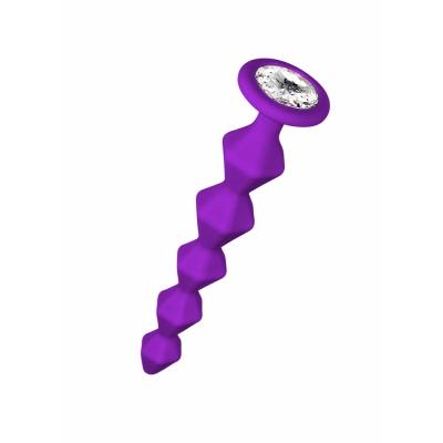 Анальная цепочка с кристаллом Emotions Buddy Purple