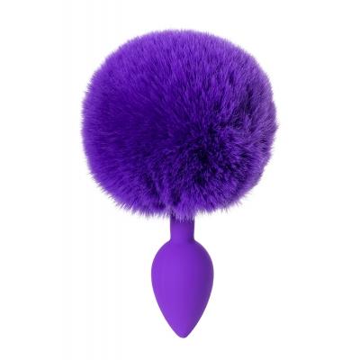 Анальная втулка с хвостом фиолетовый ToDo Sweet bunny