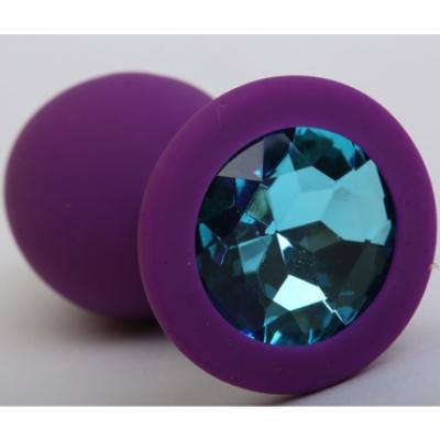 Lola Toys Emotions Cutie Medium, фиолетовая. Анальная пробка с голубым кристаллом