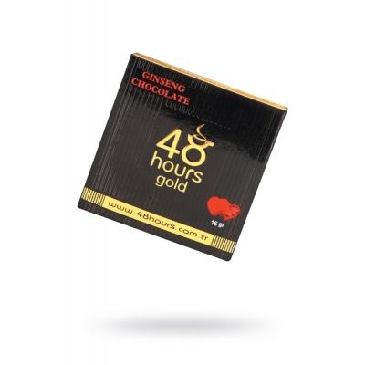 Возбуждающий шоколад для пар 48 HOURS gold 16 г