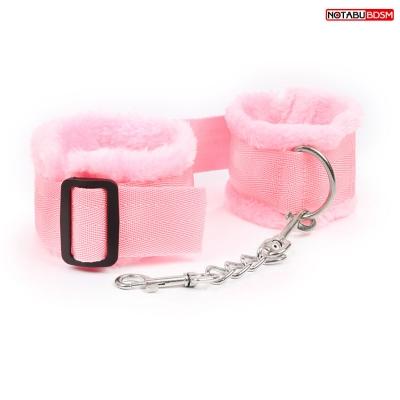 Наручники цвет розовый текстиль