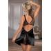 Комбинация Candy Girl с открытой спиной и стринги, чёрные, OS
