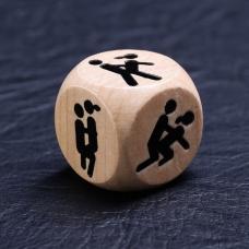 """Кубик деревянный """"Ночь любви. Позы"""""""