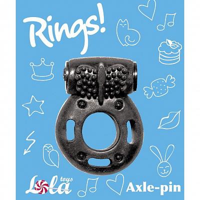 Эрекционное виброкольцо черное Rings Axle-pin