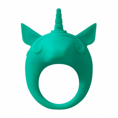 Эрекционное виброкольцо Mimi Animals Unicorn Alfie Green