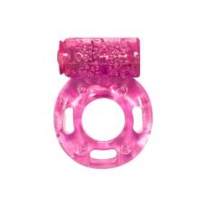 Эрекционное виброкольцо розовое Rings Axle-pin