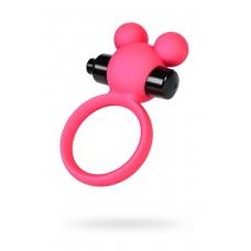 Виброкольцо на пенис A-Toys розовое Ø 3,1 см