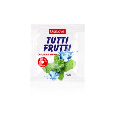 Съедобный лубрикант Tutti-Frutti сладкая мята 4 г