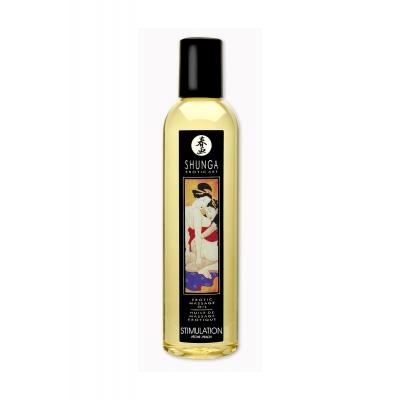 Возбуждающее массажное масло Shunga Персик, натуральное, 250 мл
