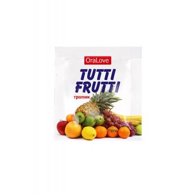 Съедобная смазка TUTTI-FRUTTI экзотические фрукты 4 гр