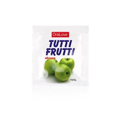 Съедобная смазка TUTTI-FRUTTI яблоко 4 гр