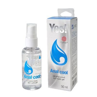 Анальная смазка с ментолом силиконовая YES Anal Cool 50 мл