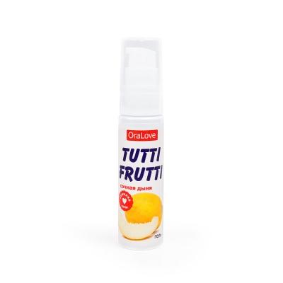 Съедобный лубрикант Tutti-Frutti Сочная дыня 30 мл