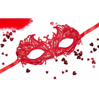 Ажурная маска красная АНДРЕА