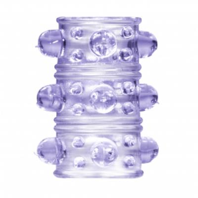 Стимулирующая насадка на пенис фиолетовая Rings Armour