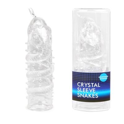 Насадка закрытая CRYSTAL SLEEVE SNAKES в форме змеи арт. EE-10104