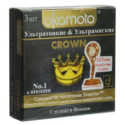 Презервативы ультратонкие Окамото Crown 3 шт