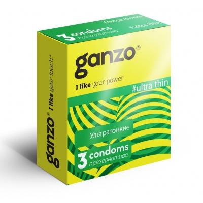 Презервативы ультратонкие Ganzo 3 шт