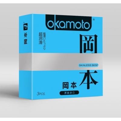 Презервативы в обильной смазке OKAMOTO Skinless Skin Super lubricative 3 шт