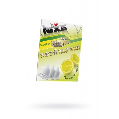 Презервативы Luxe Золотой кадиллак лимон 3 шт