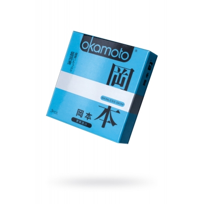 Презервативы с двойной смазкой Okamoto Skinless Skin Super 3 шт
