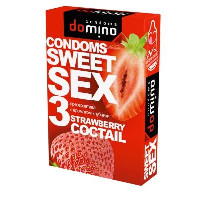 Презервативы оральные Domino Sweet Sex клубничный коктель