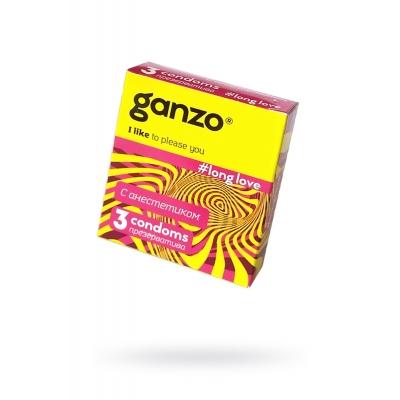 """Презервативы """"GANZO"""" LONG LOVE №3 (пролонгирующие)"""