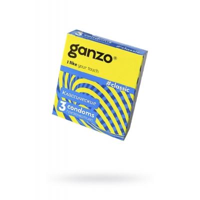 Презервативы классические с обильной смазкой GANZO 3 шт