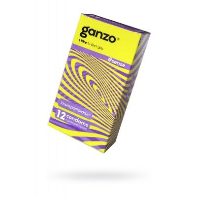 Презервативы ультратонкие GANZO Sense 12 шт
