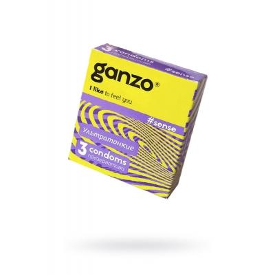 """Презервативы """"GANZO"""" SENSE №3 (ультратонкие)"""