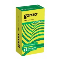 Презервативы супертонкие GANZO Ultra Thin 12 шт