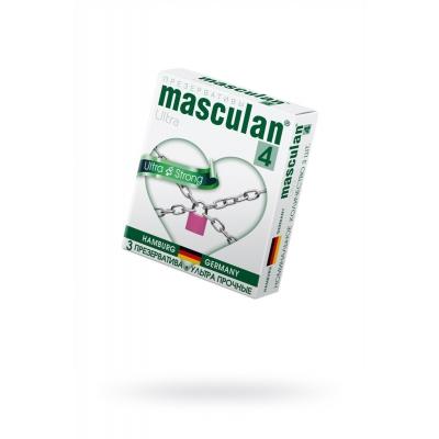 Презервативы ультрапрочные Masculan 3 шт