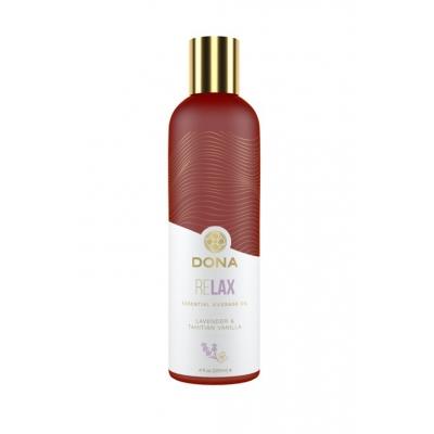 Массажное масло с эфирными маслам и афродизиаками Dona тиянская ваниль и лаванда