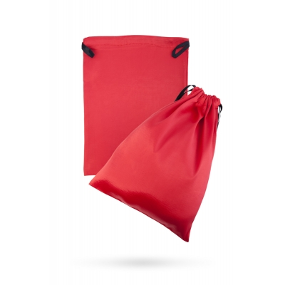Атласный мешочек для хранения игрушек красный
