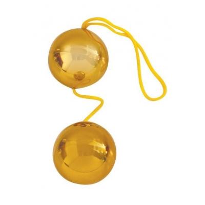 """ШАРИКИ ВАГИНАЛЬНЫЕ """"BALLS"""" золотые D 35 мм арт. EE-10097 Z"""