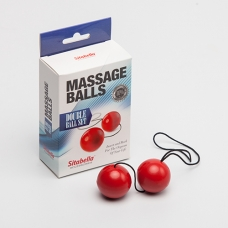 Вагинальные шарики красные (пластик) Sitabella D 35 мм