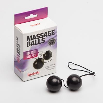Вагинальные шарики черные (пластик) Sitabella D 35 мм