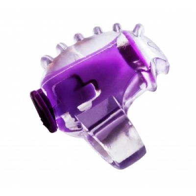 Мини вибратор насадка на палец розовая Rings Chillax