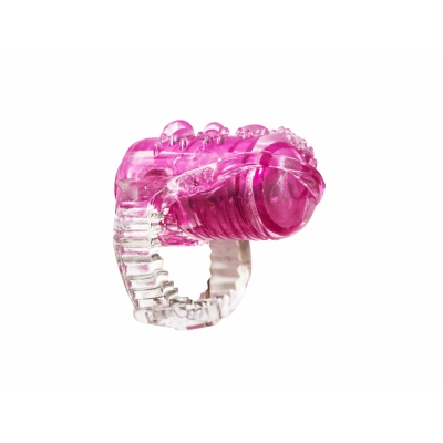 Мини вибратор насадка на язык розовая Rings Teaser